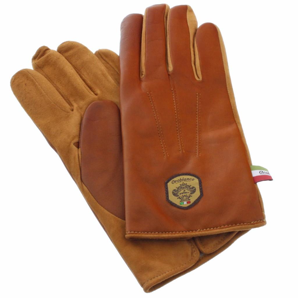 【期間限定ポイント10倍】Orobianco オロビアンコ 手袋 メンズ ORM-1531 NAPPA SUEDE ライトブラウン/キャメル 8 (23cm)