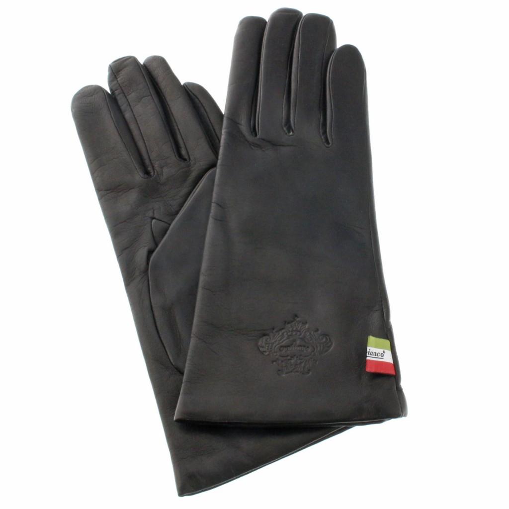 【期間限定ポイント10倍】Orobianco オロビアンコ 手袋 レディース ORL-1582 NAPPA ブラック 7 (20cm)