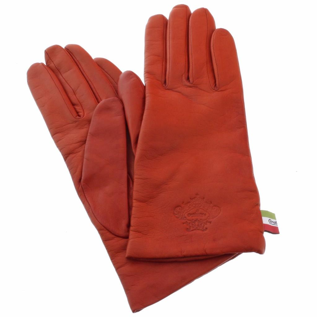 Orobianco オロビアンコ 手袋 レディース ORL-1582 NAPPA レッド 7.5 (21cm)