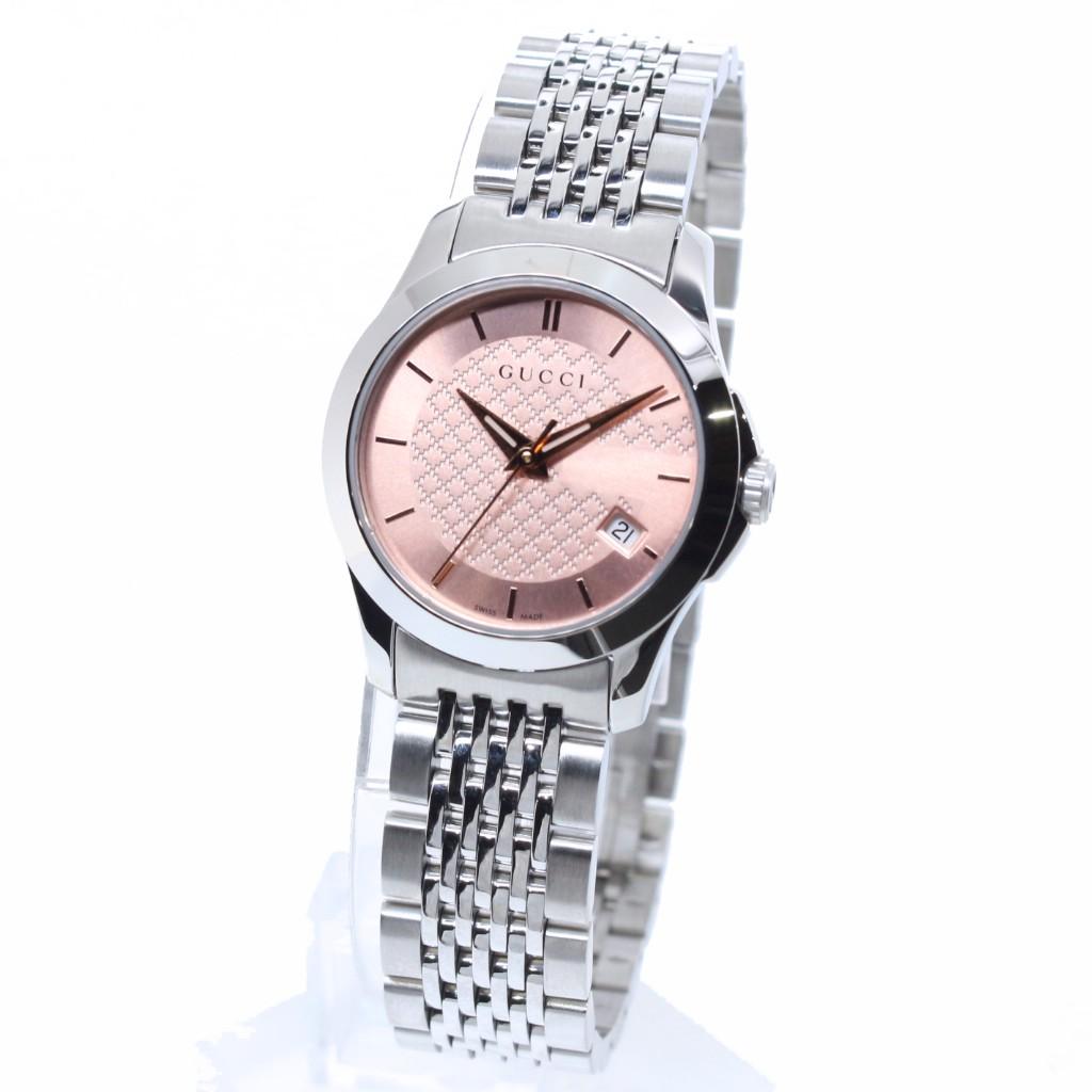 【34時間限定ポイント5倍 & 最大3万円OFFクーポン配布中】GUCCI グッチ 腕時計 レディース Gタイムレス YA126566 ピンク