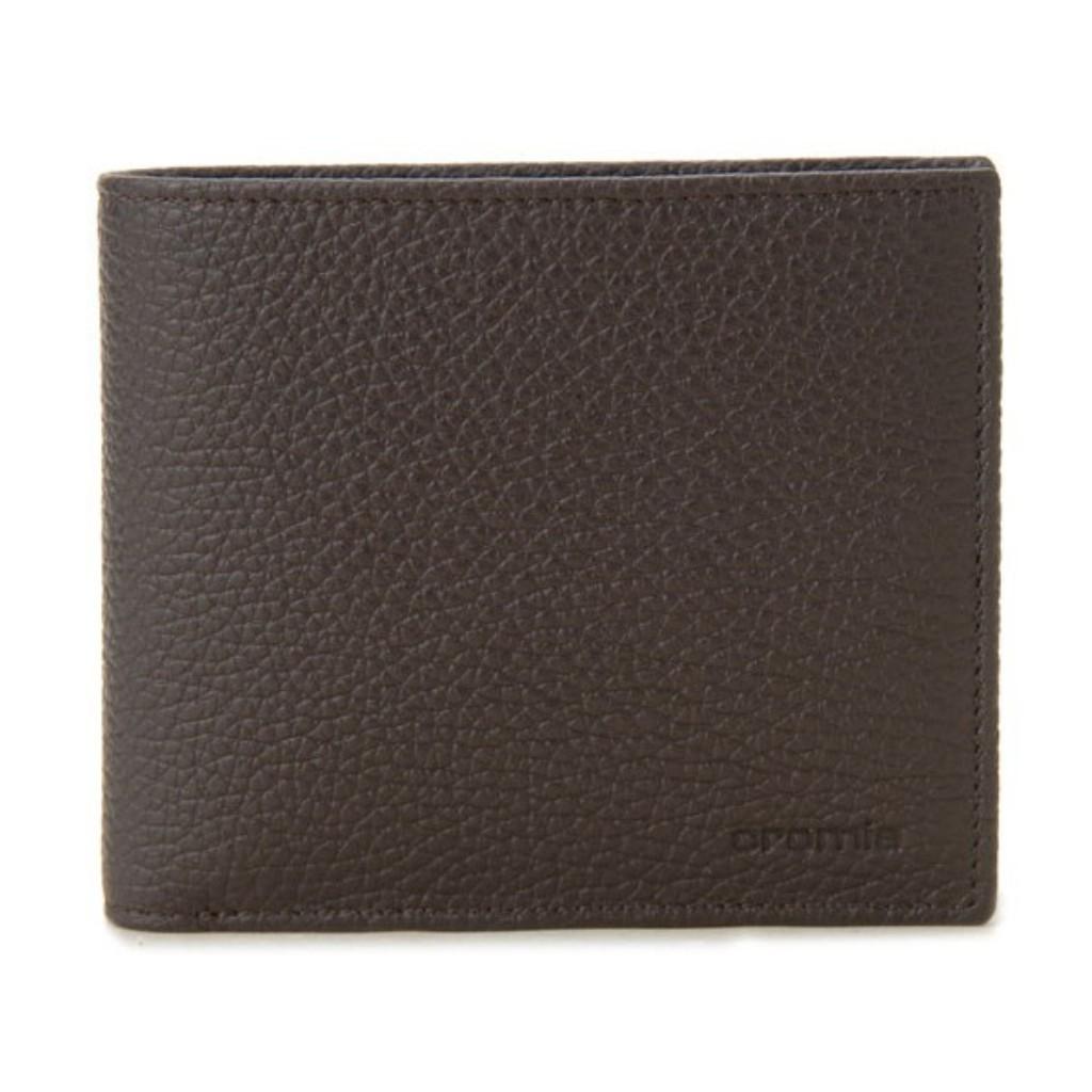 CROMIA クロミア 二つ折り財布 CRM2400027 ブラウン/ブルー イタリアンレザー