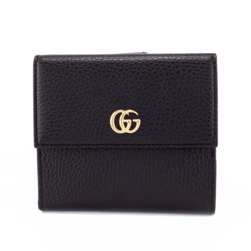 【期間限定ポイント5倍】グッチ 二つ折り財布 GUCCI 456122 CAO0G 1000 ブラック