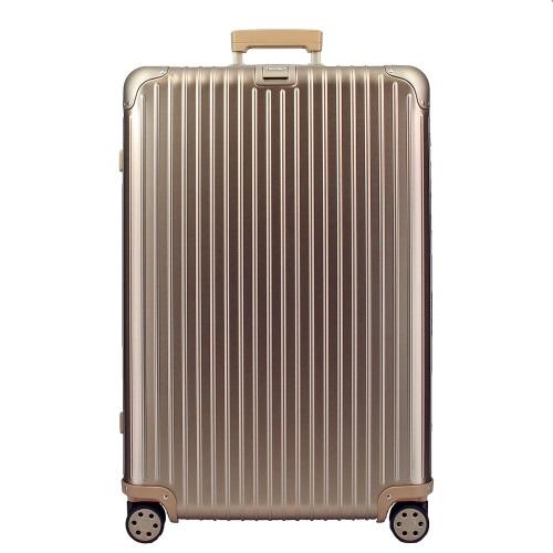 【26時間限定ポイント最大5倍 10/26 1:59まで】リモワ RIMOWA トパーズ チタンニウム 924.77.03.5 ゴールド 97L アルミニウム スーツケース