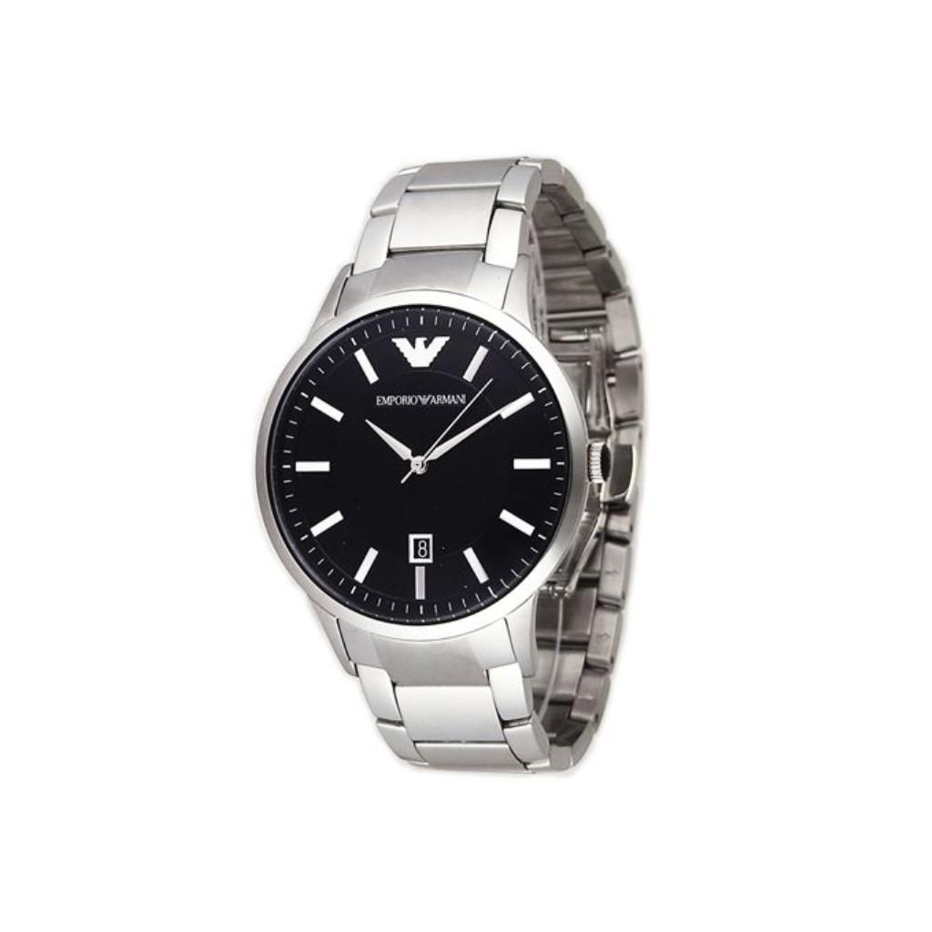 EMPORIO ARMANI エンポリオアルマーニ 腕時計 メンズ AR2457 ブラック
