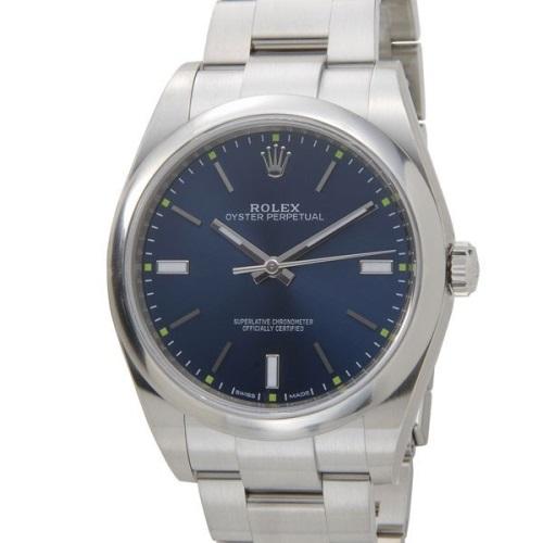 ROLEX ロレックス オイスターパーペチュアル39 114300 ブルー 腕時計 メンズ
