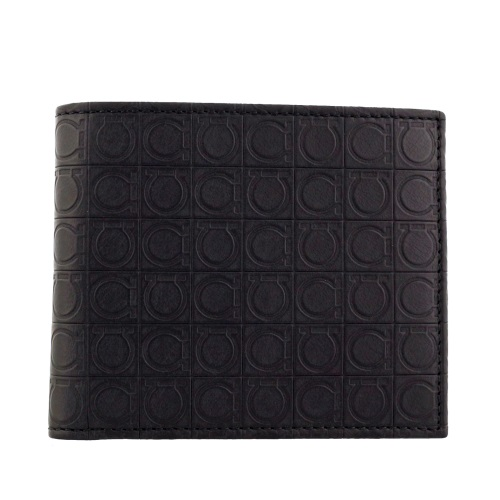 【期間限定ポイント10倍】フェラガモ 二つ折り財布 メンズ ブラック 669407 568274 DEEP BLACK