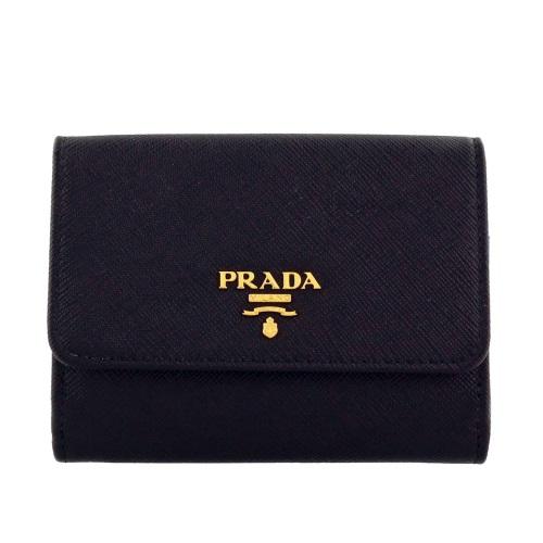 PRADA プラダ 財布 Wホック財布 1MH523 QWA F0002 NERO ブラック