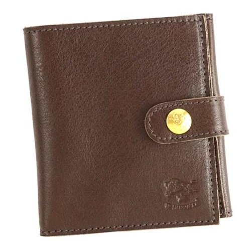 IL BISONTE イルビゾンテ 二つ折り財布 C0955 455 DARK BROWN