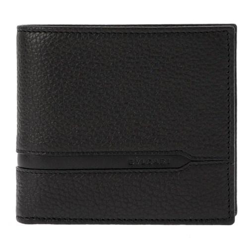BVLGARI ブルガリ 二つ折り財布 メンズ ブラック 36964 オクト