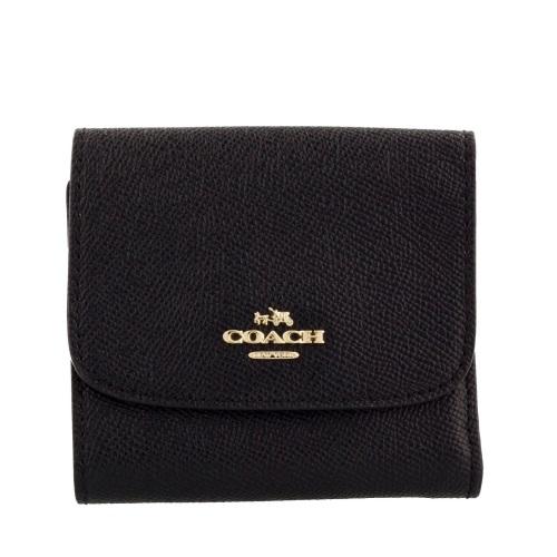 COACH OUTLET コーチ アウトレット 三つ折り財布 F87588 IMBLK クロスグレインレザー