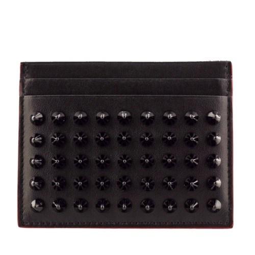 CHRISTIAN LOUBOUTIN クリスチャンルブタン カードケース レディース ブラック 3165091 BLACK/BLACK