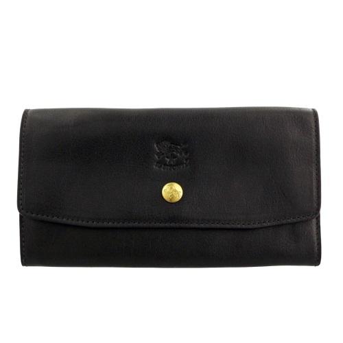 IL BISONTE イルビゾンテ 長財布 レディース メンズ ブラック C1008-P 153 BLACK