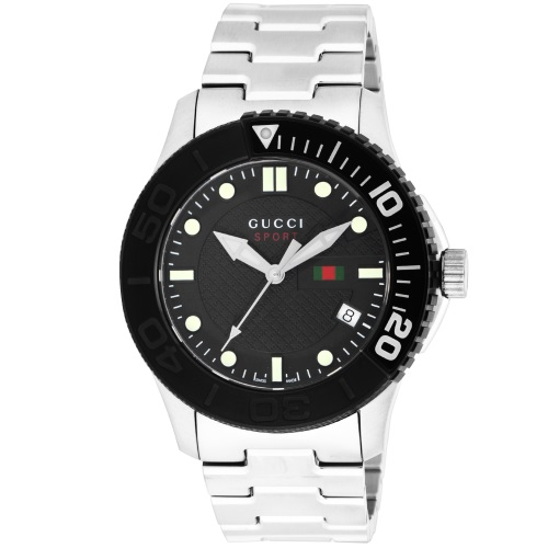 GUCCI グッチ 腕時計 メンズ Gタイムレス ブラック YA126249