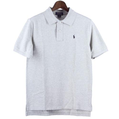 POLO RALPH LAUREN ポロラルフローレン 鹿の子 ポロシャツ ボーイズ Lサイズ グレー 323603252