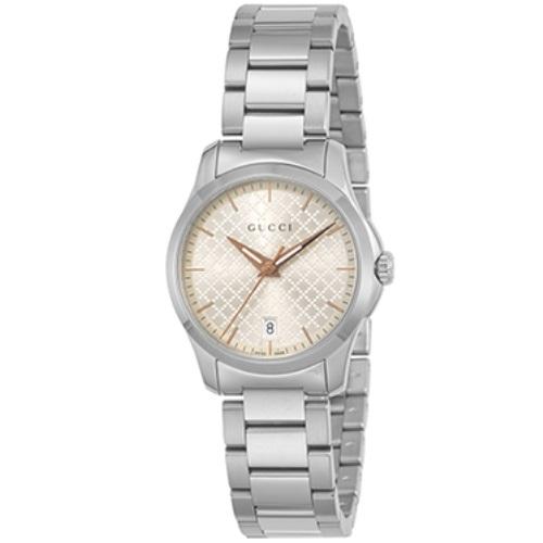 GUCCI グッチ 腕時計 レディース Gタイムレス シルバー YA126593