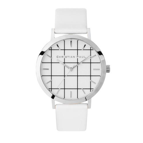 CHRISTIAN PAUL クリスチャンポール 腕時計 レディース グリッド ホワイト GL03WHSV