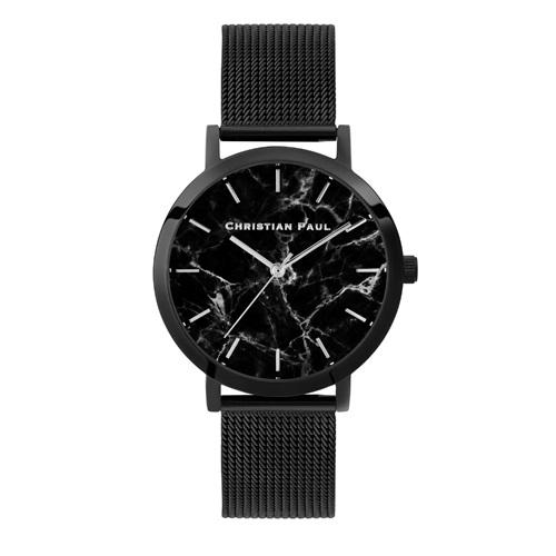 CHRISTIAN PAUL クリスチャンポール 腕時計 レディース マーブルメッシュ ブラック ML01BKM