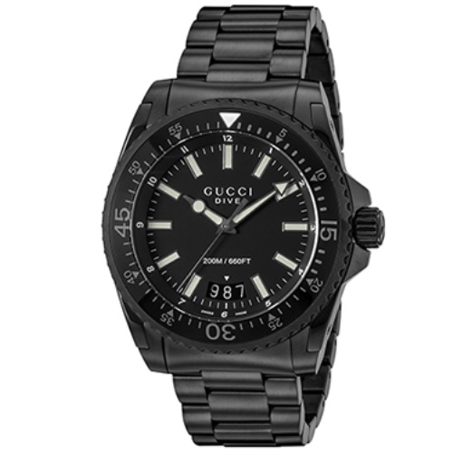GUCCI グッチ 腕時計 メンズ ダイヴ ブラック YA136205