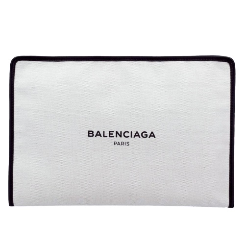 BALENCIAGA バレンシアガ クラッチバッグ ナチュラル ブラック 491542 AQ37N 1080