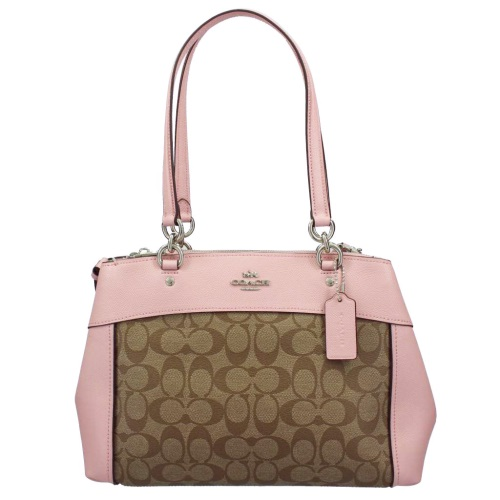 COACH OUTLET コーチ アウトレット トートバッグ レディース カーキ ピンク F25396 SVN3X