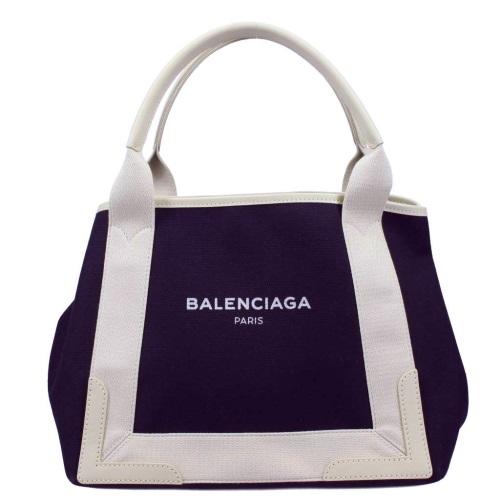 BALENCIAGA バレンシアガ トートバッグ NAVY CABAS S ネイビー ホワイト 339933 K9H1N 4092