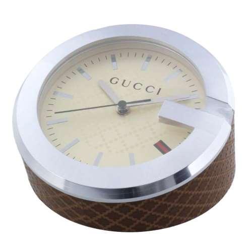 【24時間限定ポイント5倍 8/1 00:00~】GUCCI グッチ 置時計 アイボリー YC210005