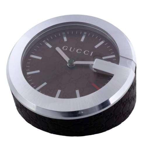 【24時間限定ポイント5倍 8/1 00:00~】GUCCI グッチ 置時計 ブラウン YC210007