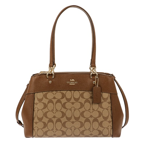 COACH OUTLET コーチ アウトレット トートバッグ レディース カーキ ブラウン F25396 IME74