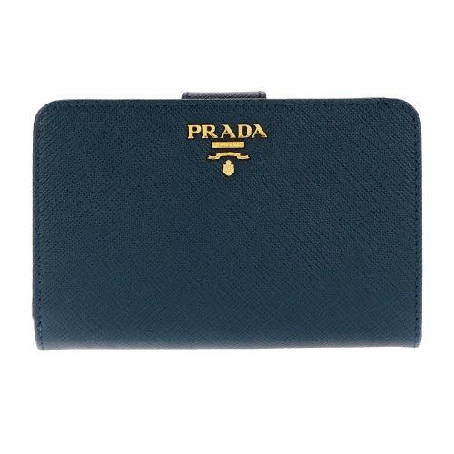 【38時間限定ポイント5倍 3/29 20時~】PRADA プラダ 二つ折り財布 レディース ブルー 1ML225 QWA F0016 BLUETTE
