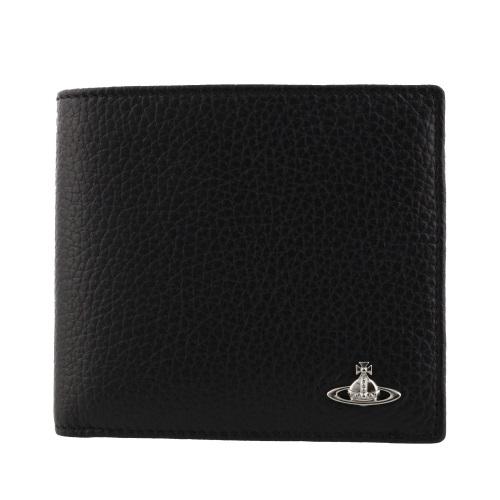 Vivienne Westwood ヴィヴィアンウエストウッド 二つ折り財布 メンズ ブラック 33408 MILANO BK