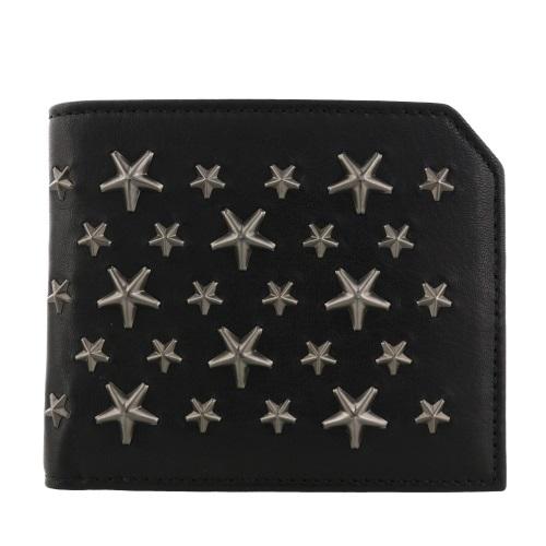 Jimmy Choo ジミーチュウ 二つ折り財布 メンズ ブラック ALBANY BLS BLACK