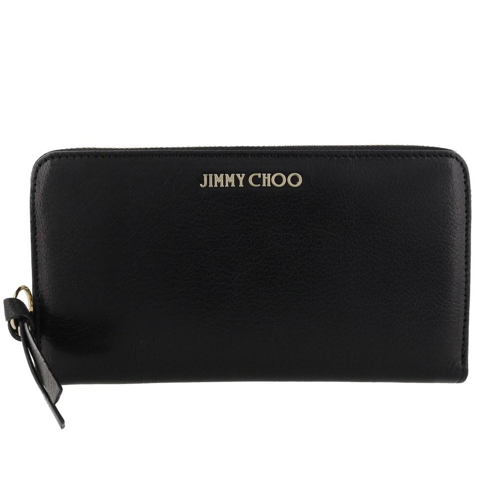 Jimmy Choo ジミーチュウ 長財布 レディース ブラック PIPPA GRZ BLACK