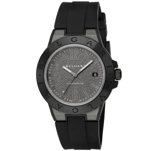 BVLGARI ブルガリ 腕時計 メンズ ディアゴノマグネシウム ブラックラッカー DG41C14SMCVD