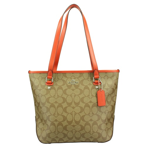 COACH OUTLET コーチ アウトレット トートバッグ レディース カーキ/オレンジ F58294 SVN3Z