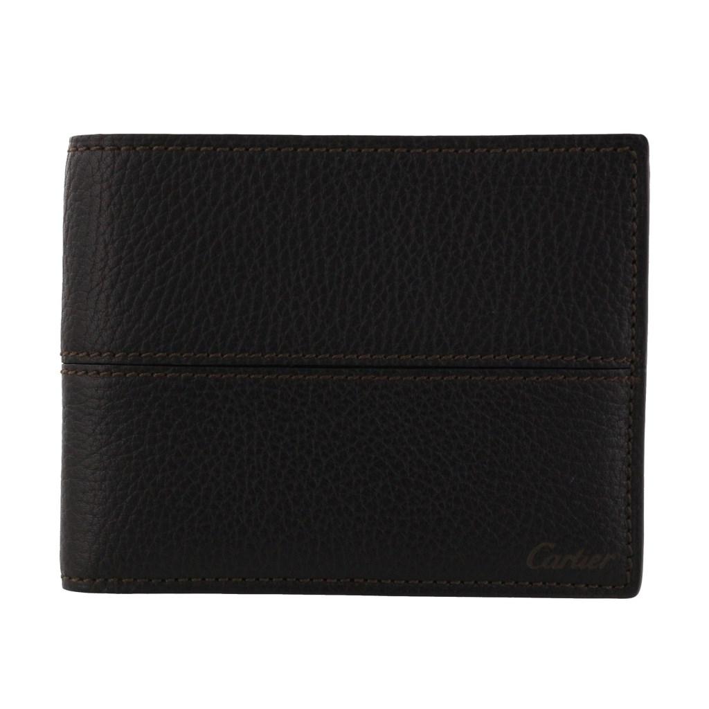 Cartier カルティエ 二つ折り財布 メンズ サドルステッチ ブラウン L3001262 エボニー