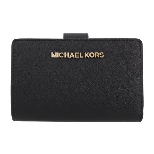 MICHAEL KORS マイケルコース 二つ折り財布 レディース ブラック 35F7GTVF2L 001 BLACK