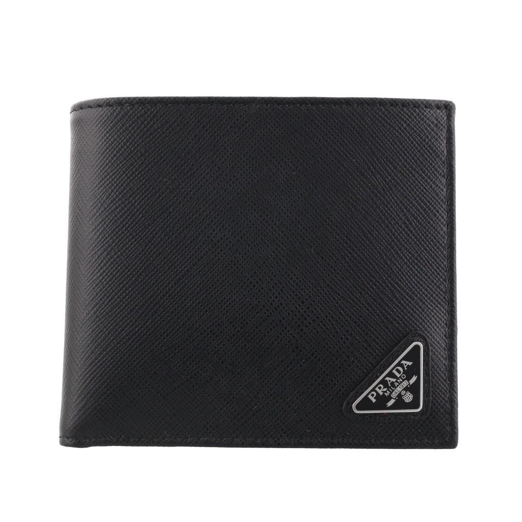 【期間限定ポイント10倍】プラダ 二つ折り財布 メンズ ブラック PRADA 2MO738 QHH F0002 NERO