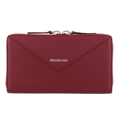 BALENCIAGA バレンシアガ 長財布 レディース ペーパー レッド 381226 DLQ0N 6135