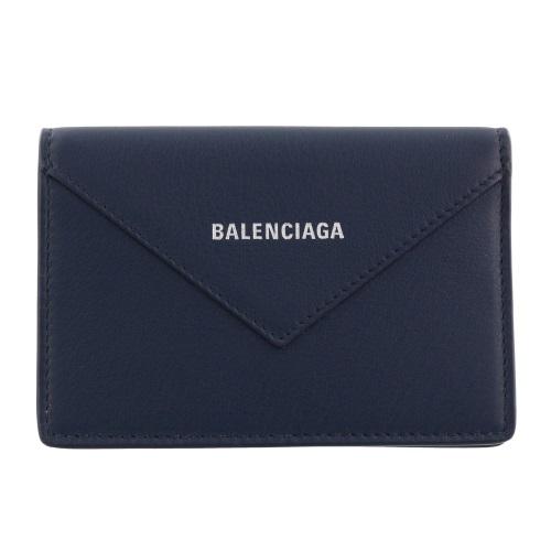 BALENCIAGA バレンシアガ カードケース レディース ペーパー ブルー 499201 DLQ0N 4222