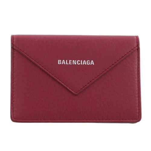【38時間限定ポイント5倍 3/29 20時~】BALENCIAGA バレンシアガ カードケース レディース ペーパー レッド 499201 DLQ0N 6135