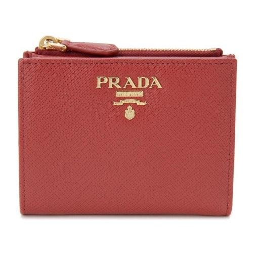 PRADA プラダ 二つ折り財布 レディース レッド 1ML023 QWA F068Z FUOCO