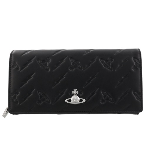 Vivienne Westwood ヴィヴィアンウエストウッド 長財布 レディース CANTERBURY ブラック 51060025 BLACK