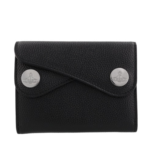 Vivienne Westwood ヴィヴィアンウエストウッド 二つ折り財布 レディース DOT ブラック 51150001 BLACK