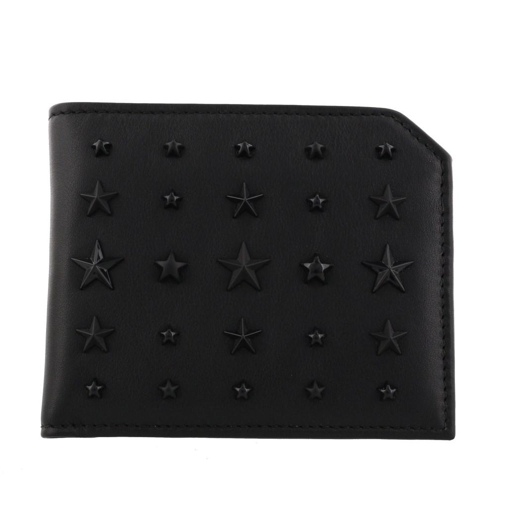 Jimmy Choo ジミーチュウ 二つ折り財布 メンズ ブラック ALBANY LXA BLACK