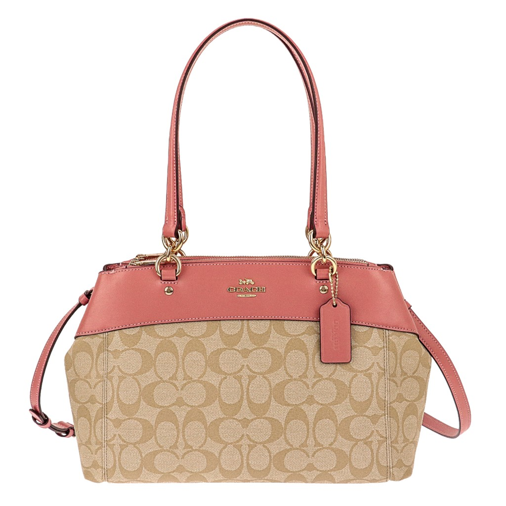 COACH OUTLET コーチ アウトレット トートバッグ ライトカーキ ヴィンテージピンク F25396 IMNHK