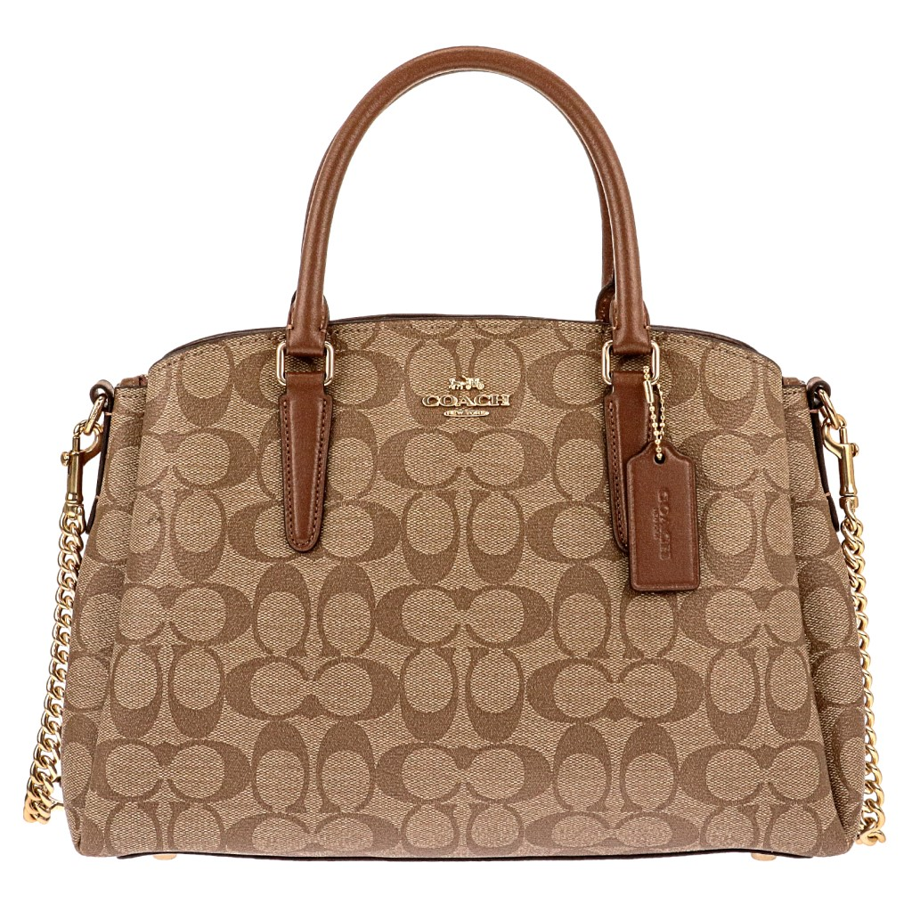 COACH OUTLET コーチ アウトレット トートバッグ レディース カーキ サドル F29683 IME74