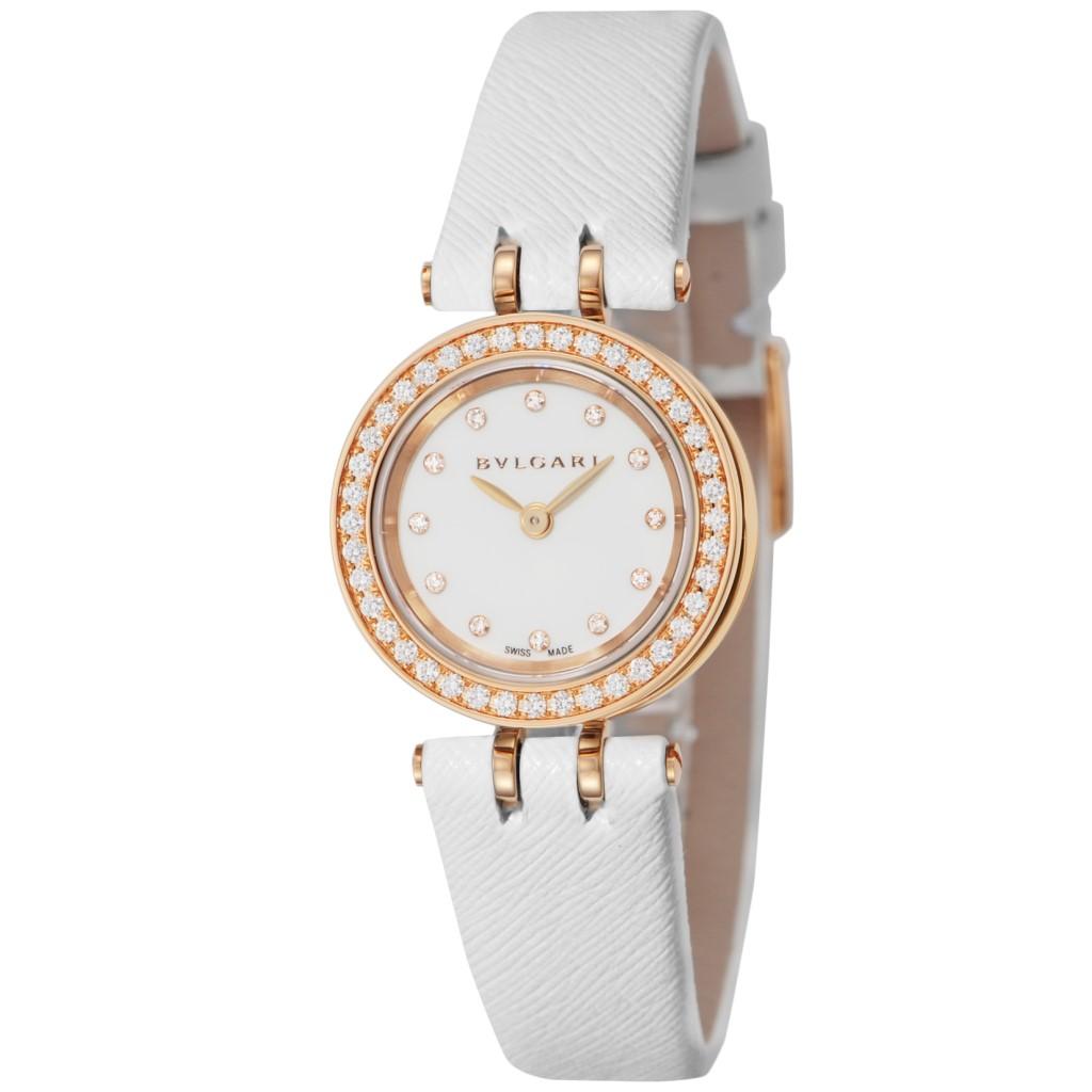 送料無料 BVLGARI 返品不可 ブルガリ 腕時計 レディース ホワイト BZ23WSGDL 12 格安店 B-ZERO1