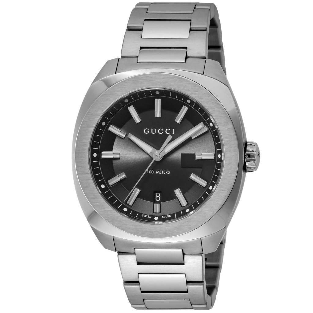 【期間限定ポイント10倍】グッチ 腕時計 メンズ GUCCI GG2570 ブラック YA142201