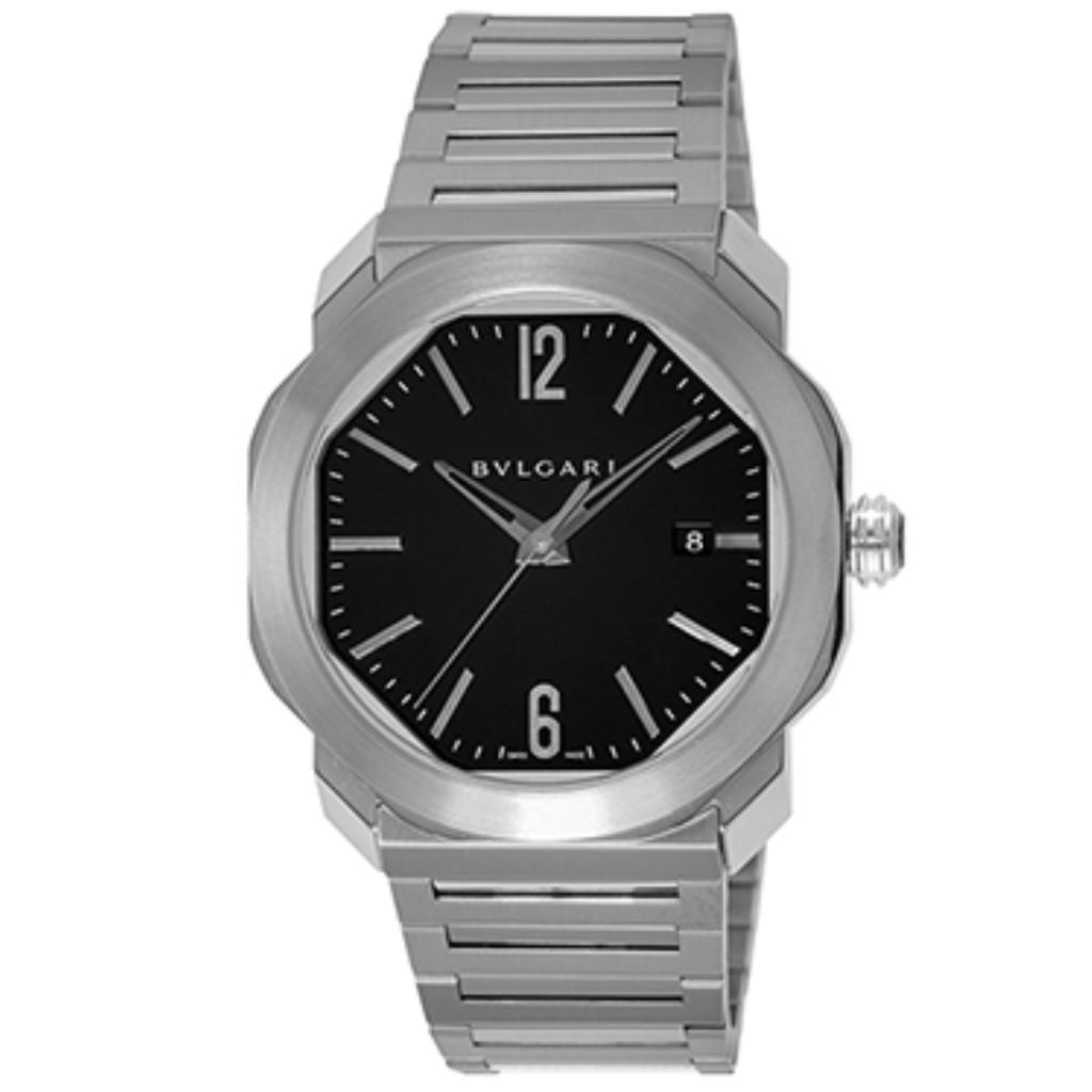 【72時間限定ポイント5倍】【72時間限定ポイント5倍】ブルガリ 腕時計 BVLGARI メンズ オクトローマ ブラック OC41BSSD