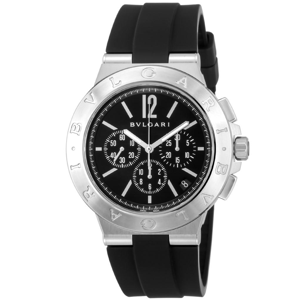 【期間限定ポイント10倍】BVLGARI ブルガリ 腕時計 メンズ ディアゴノ ブラック DG41BSVDCH-SET-BLK